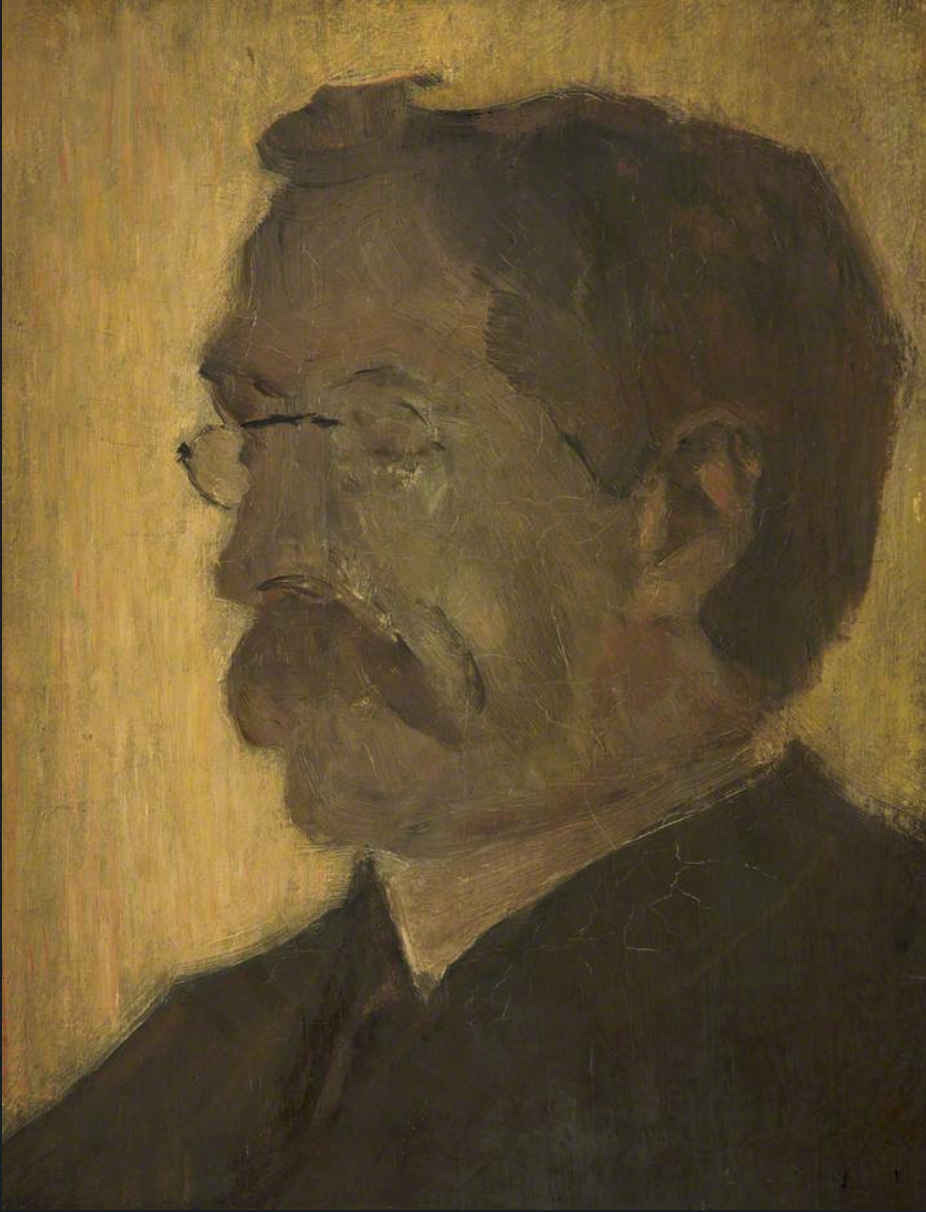 Portrait of the Artist's Father (1910) by Laurence Stephen Lowry (1887 - 1976), English artist.