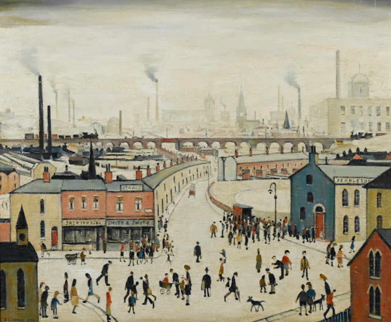 Industrial Landscape (1958) by Laurence Stephen Lowry (1887 - 1976), English artist.