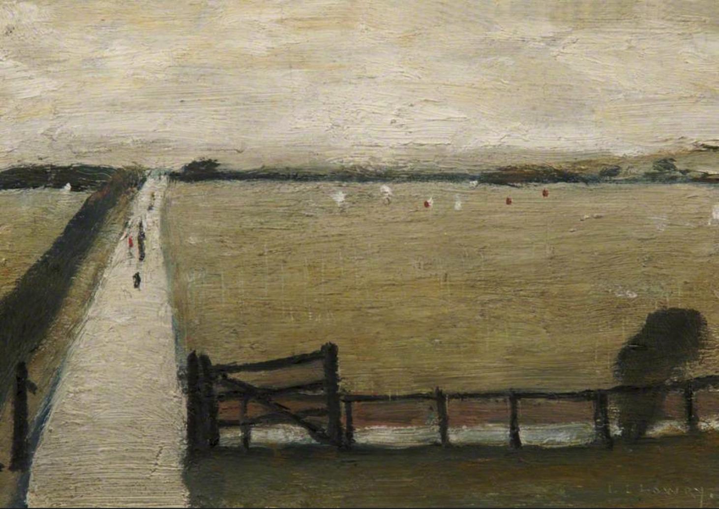 Swinton Mos (1922) by Laurence Stephen Lowry (1887 - 1976), English artist.