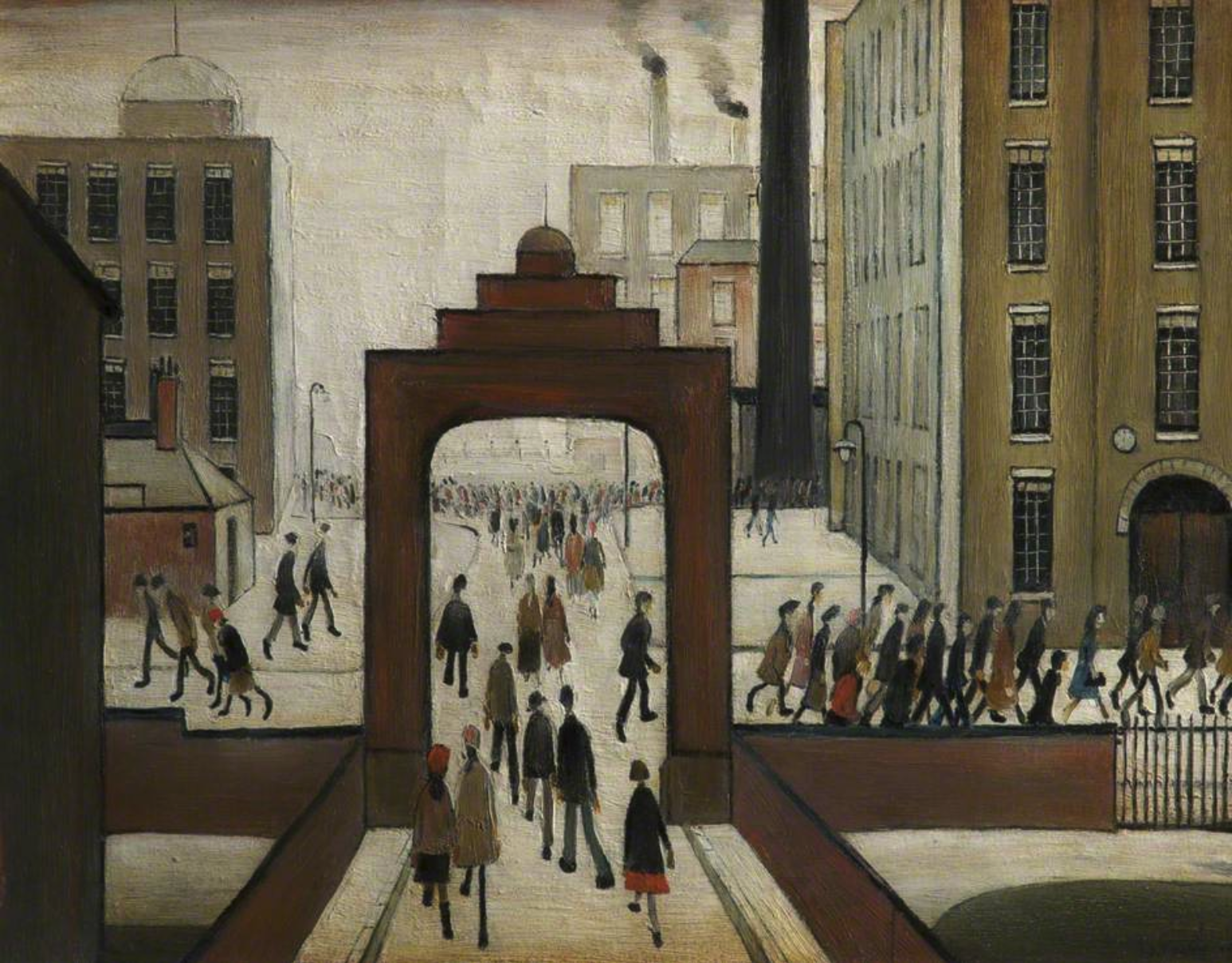 Early Morning (1954) by Laurence Stephen Lowry (1887 - 1976), English artist.