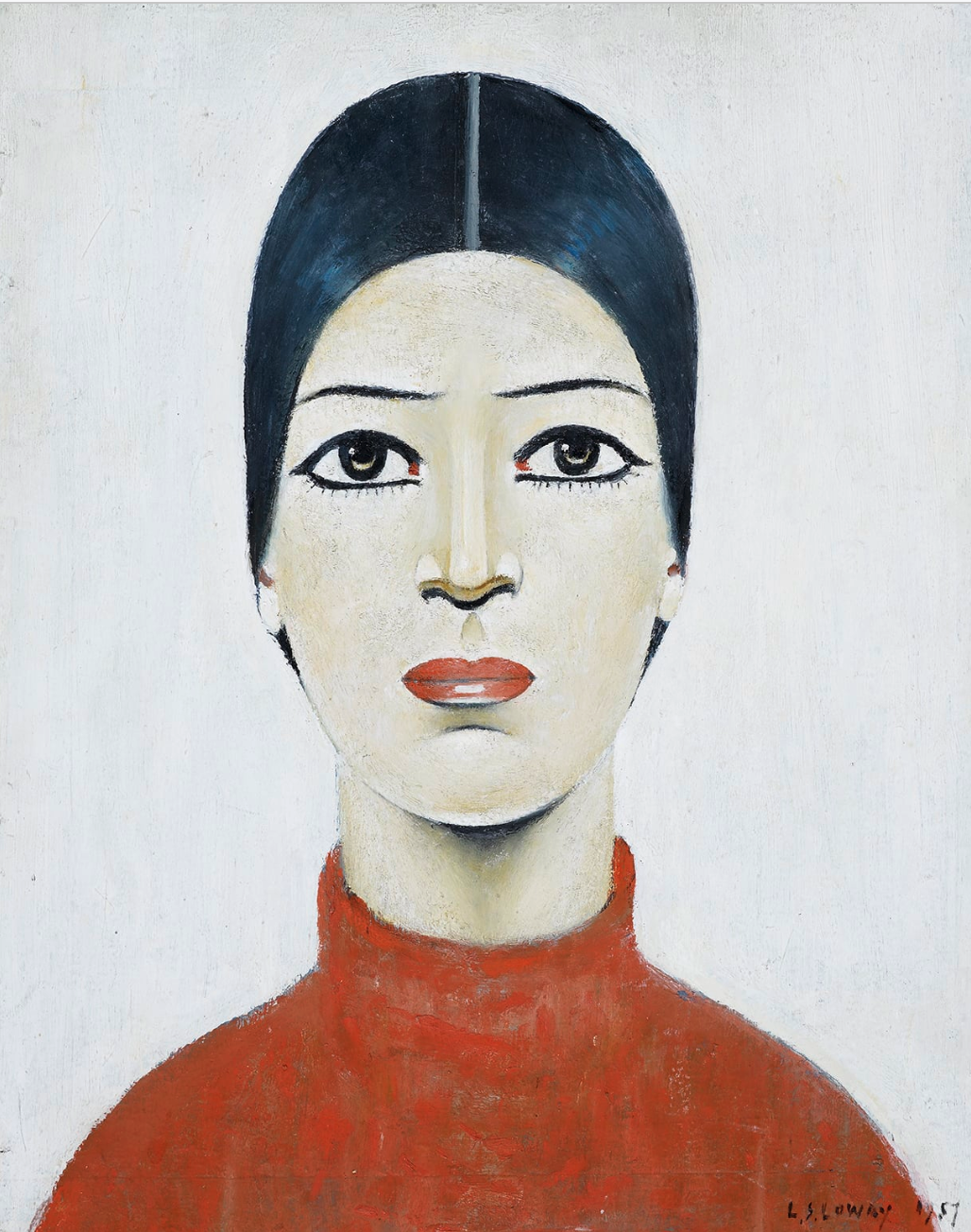 Portrait of Ann (1957) by Laurence Stephen Lowry (1887 - 1976), English artist.