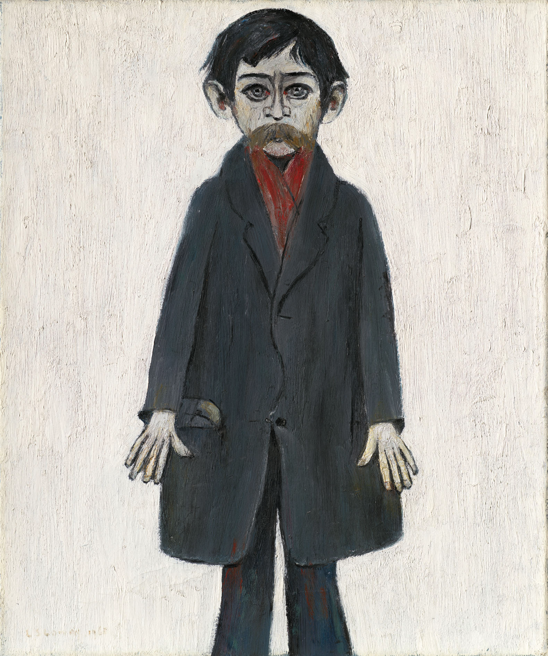 Man with Red Scarf (1963) by Laurence Stephen Lowry (1887 - 1976), English artist.