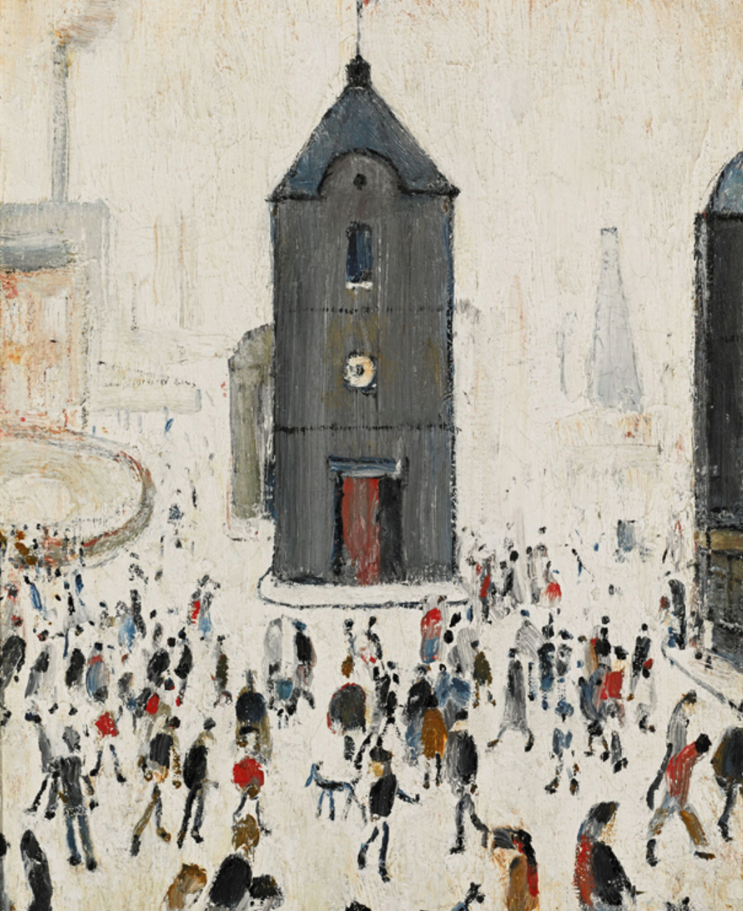 The Black Church (1964) by Laurence Stephen Lowry (1887 - 1976), English artist.