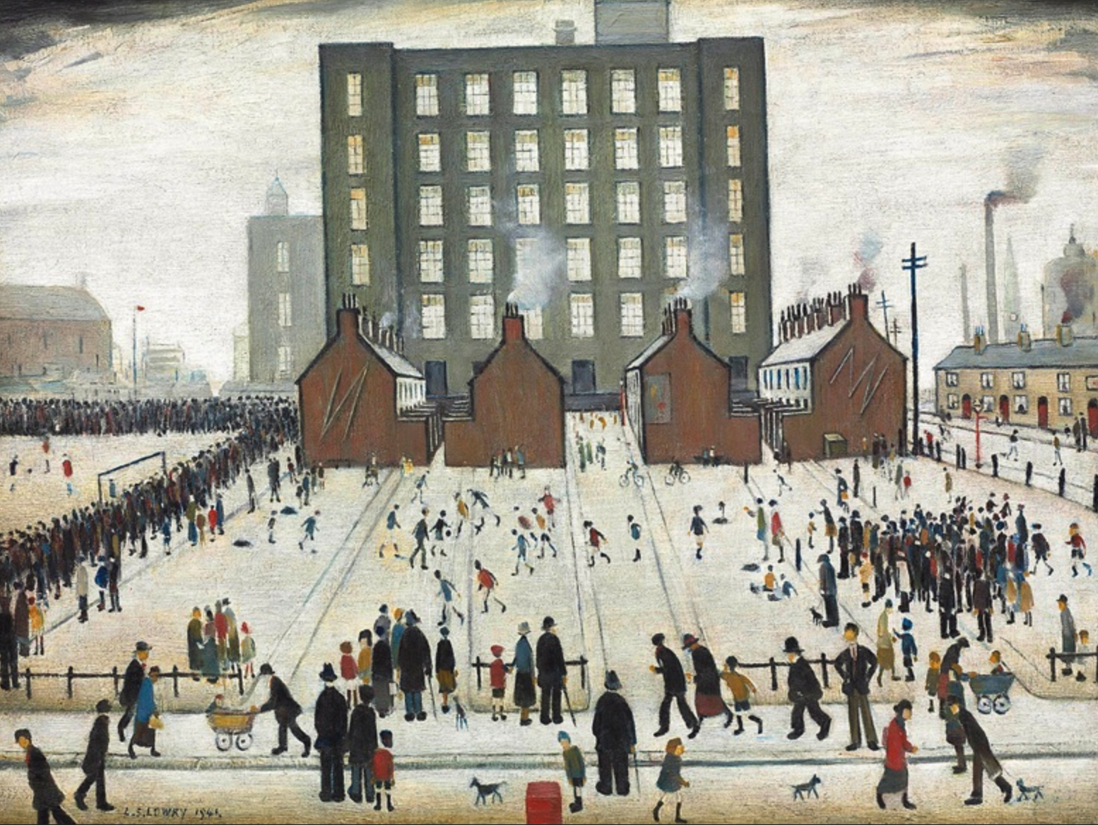 Saturday Afternoon (1941) by Laurence Stephen Lowry (1887 - 1976), English artist.