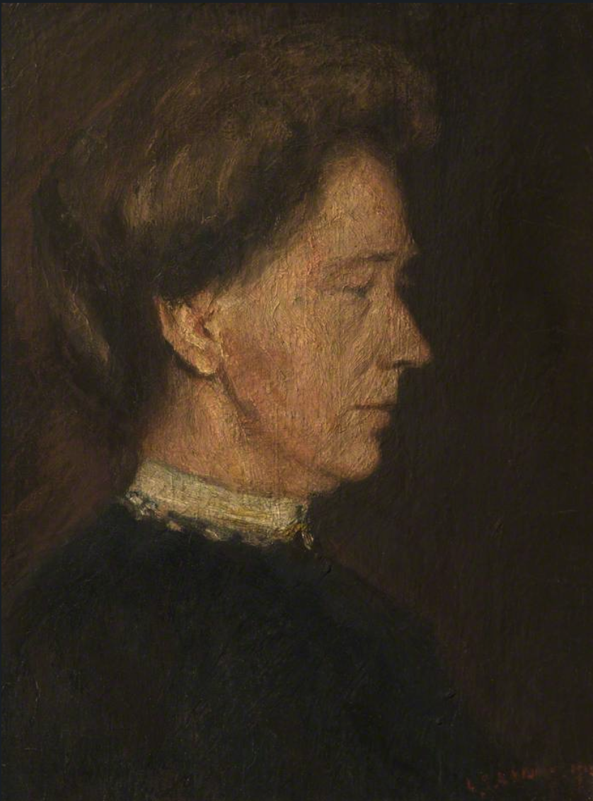 Portrait of the Artist's Mother (1912) by Laurence Stephen Lowry (1887 - 1976), English artist.