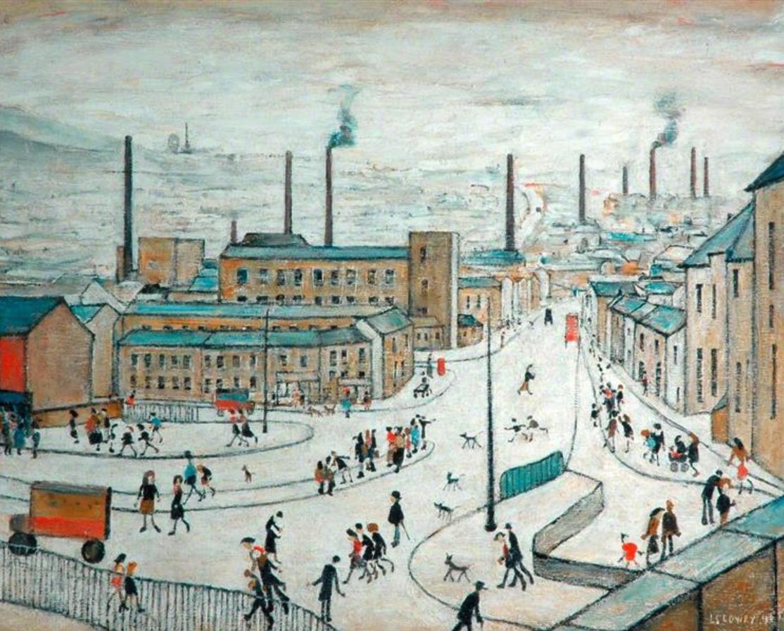 Huddersfield (a town in West Yorkshire, England) (1965) by Laurence Stephen Lowry (1887 - 1976), English artist