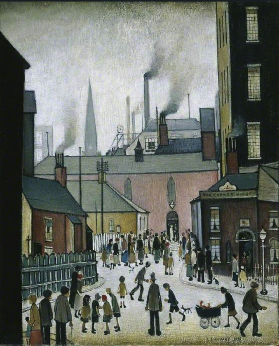 After the Wedding (1939) by Laurence Stephen Lowry (1887 - 1976), English artist.