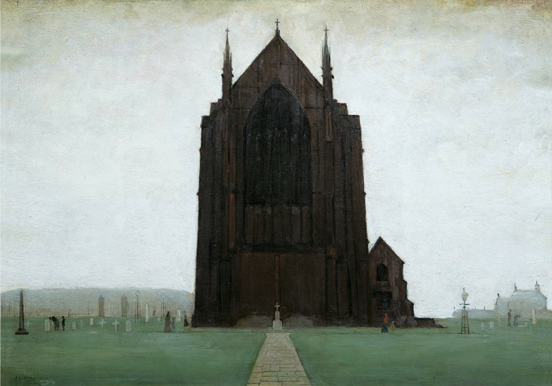 St Augustine's Church, Pendlebury (1924) by Laurence Stephen Lowry (1887 - 1976), English artist.