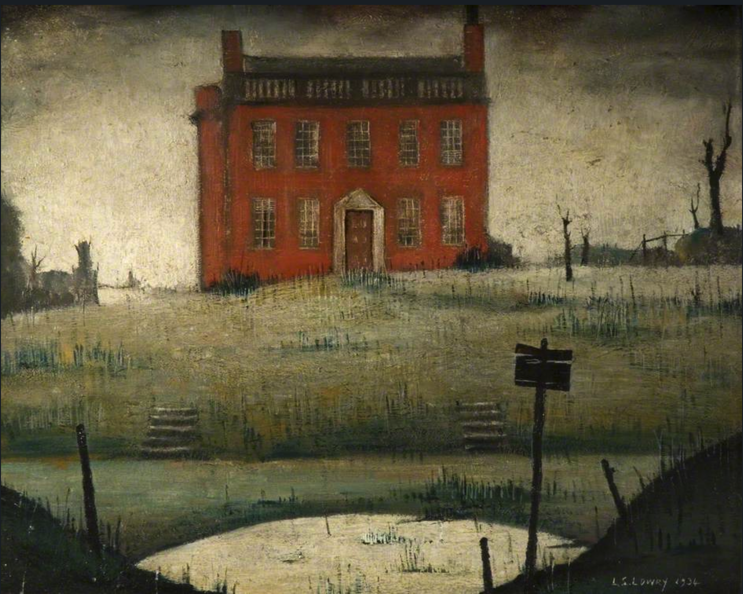 The Empty House (1934) by Laurence Stephen Lowry (1887 - 1976), English artist.