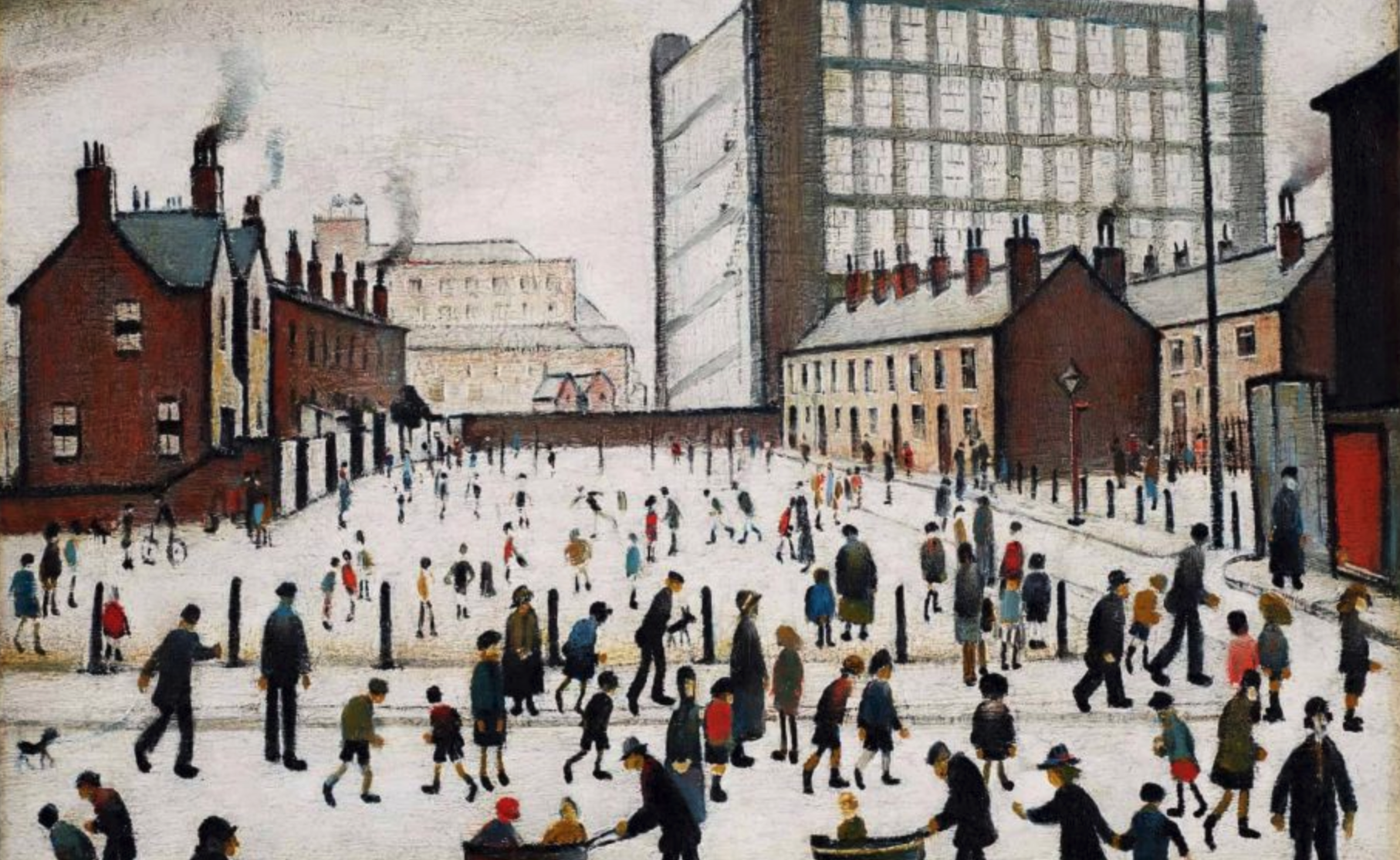The Mill, Pendlebury (1943) by Laurence Stephen Lowry (1887 - 1976), English artist.