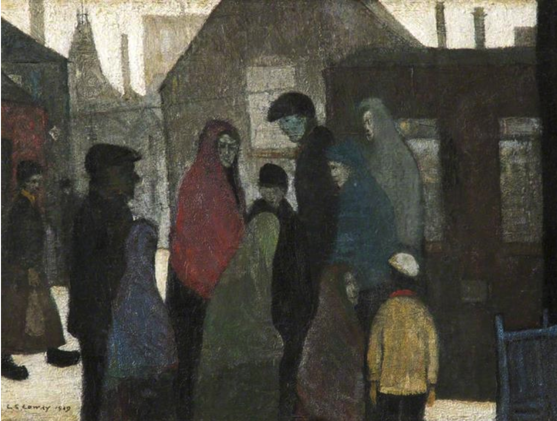 Pit Tragedy (1919) by Laurence Stephen Lowry (1887 - 1976), English artist.