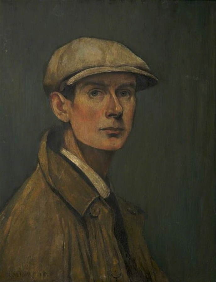 Self portrait (1925) by Laurence Stephen Lowry (1887 - 1976), English artist.