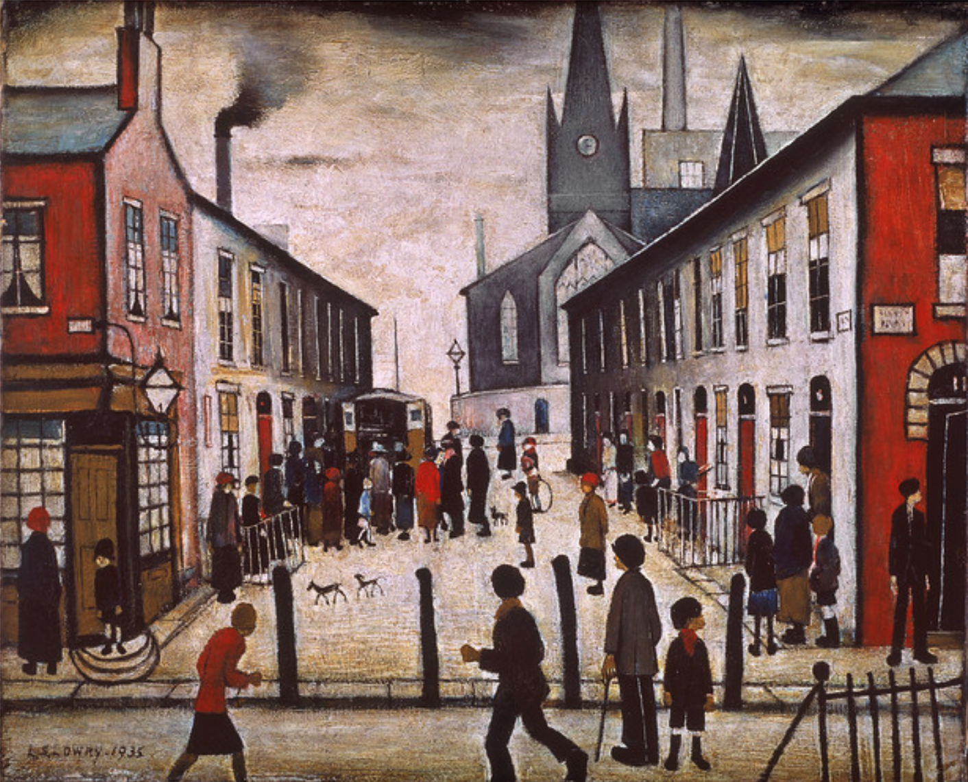 The Fever Van (1935) by Laurence Stephen Lowry (1887 - 1976), English artist.