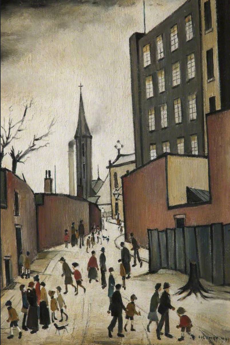 Albion Mill (1941) by Laurence Stephen Lowry (1887 - 1976), English artist.