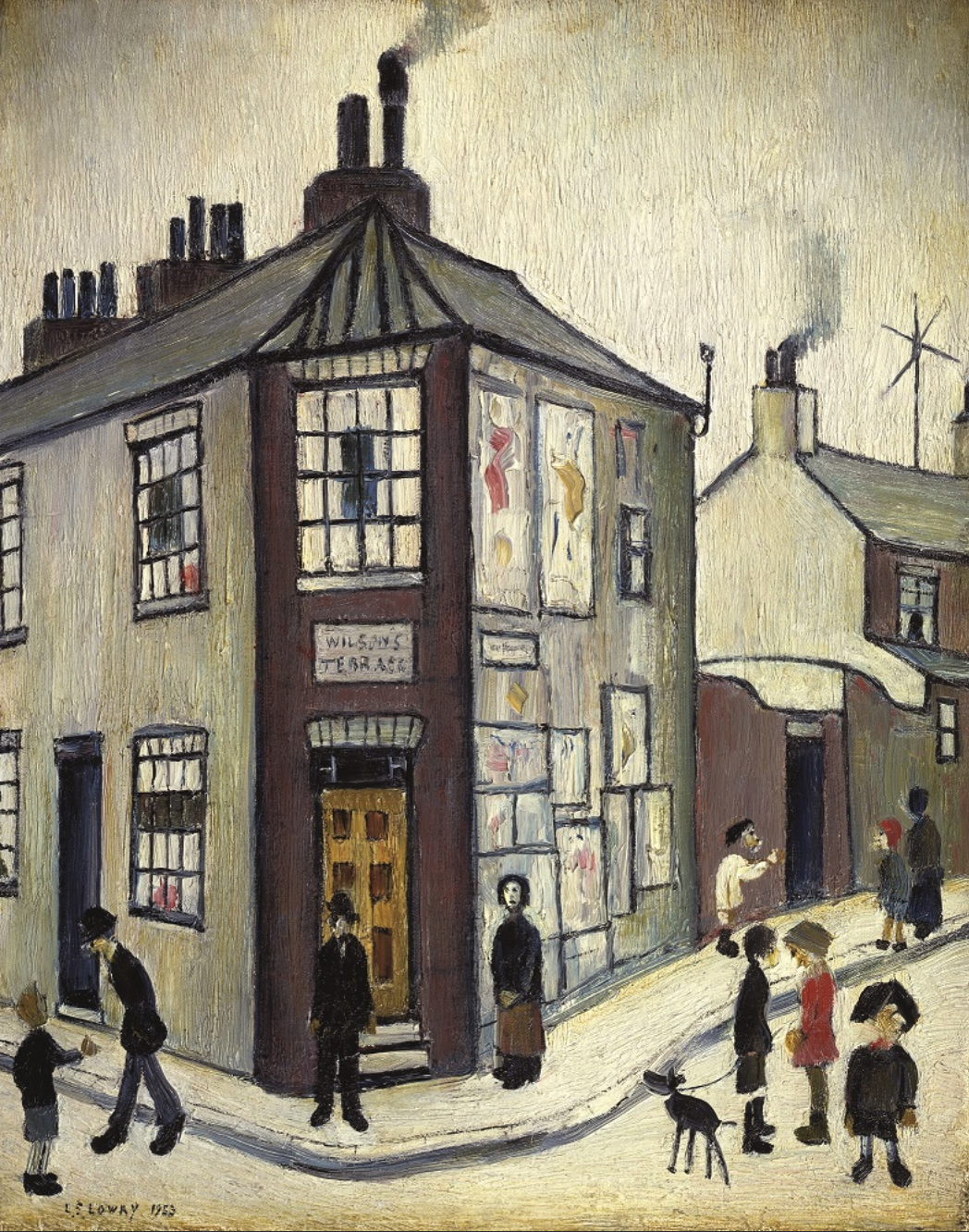 Wilson's Terrace (1953) by Laurence Stephen Lowry (1887 - 1976), English artist.